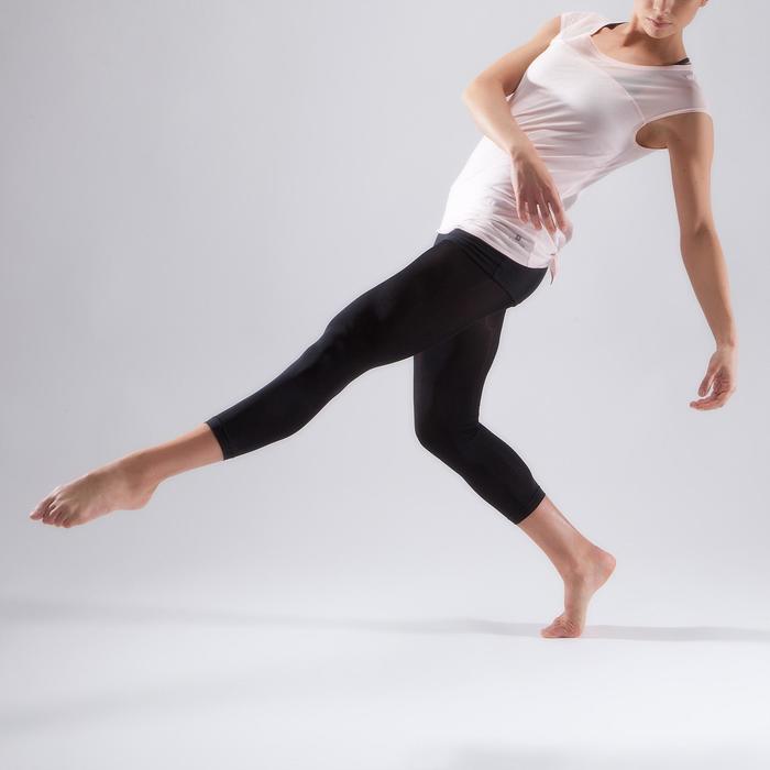 T-shirt manches courtes de danse femme rose pâle - 1324078