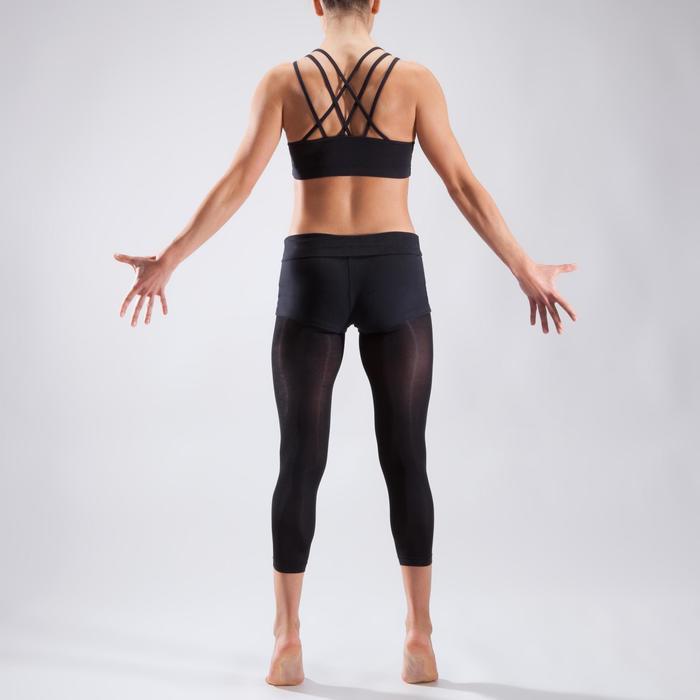 Brassière à fines bretelles croisées danse femme noire - 1324079