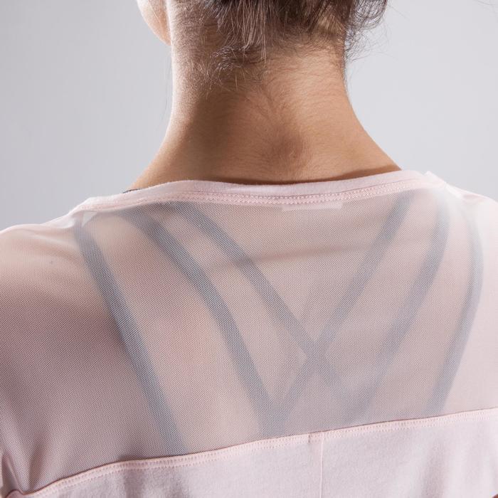 T-shirt manches courtes de danse femme rose pâle - 1324080