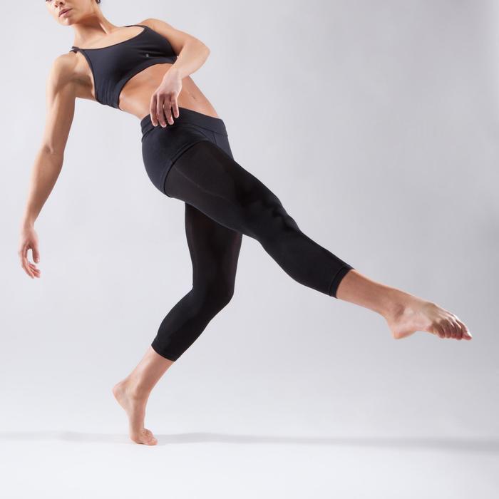 Brassière à fines bretelles croisées danse femme noire - 1324101