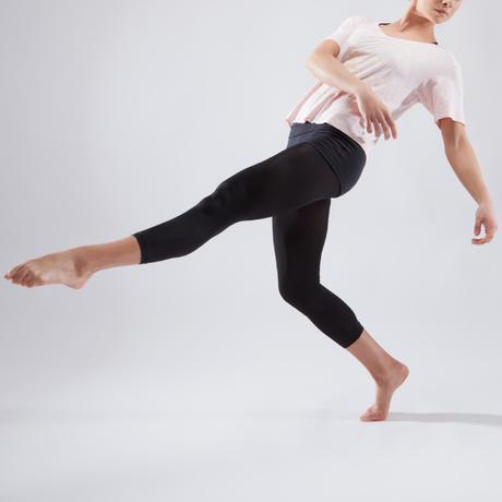 2eb9855b635f3 T-shirt court de danse femme rose pâle