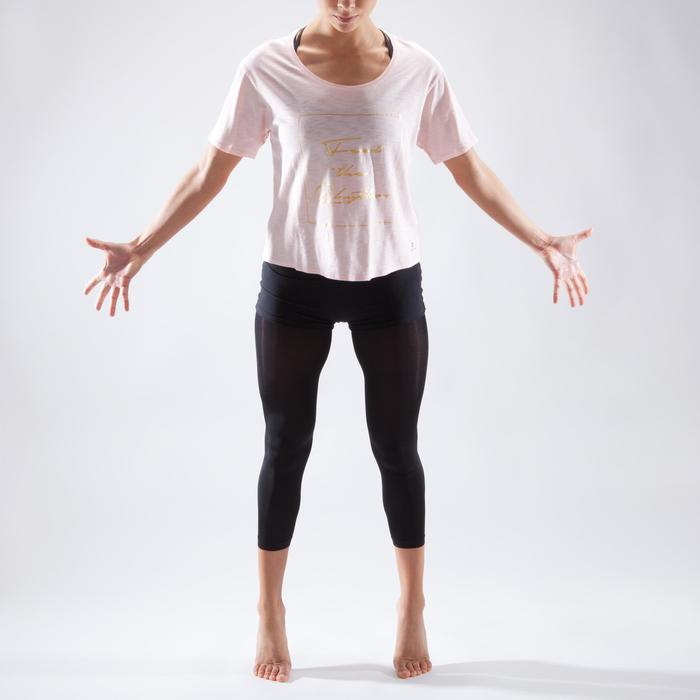 Kort dans T-shirt voor dames lichtroze