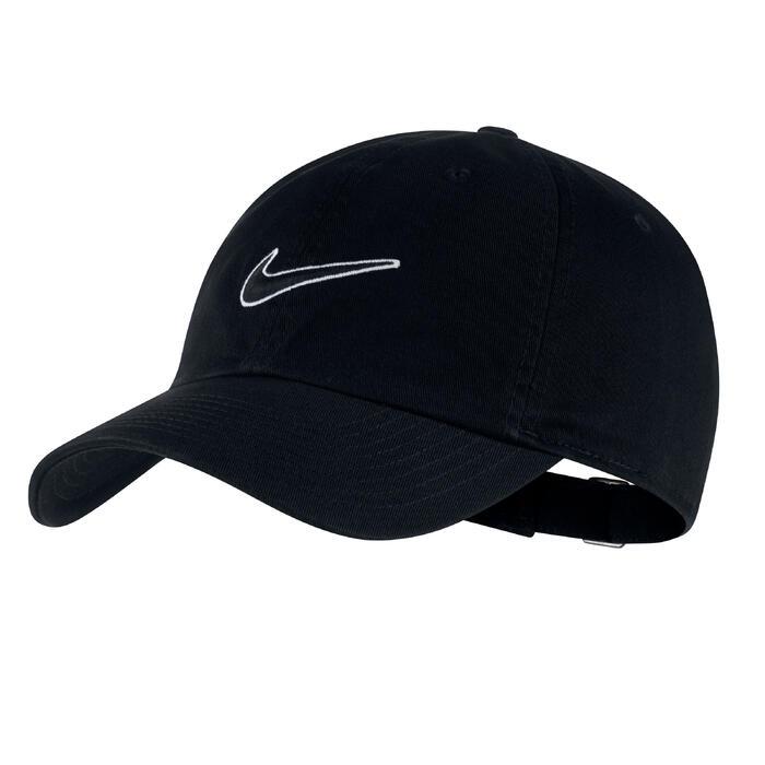 Tennis-Kappe Schirmmütze Erwachsene schwarz