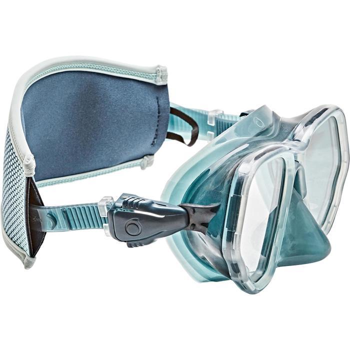 Sur-sangle de masque de plongée néoprène gris/bleu ciel