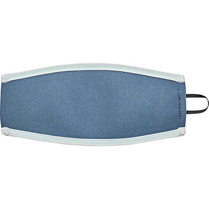 Neopren-Überzug für Maskenband Tauchen grau/hellblau