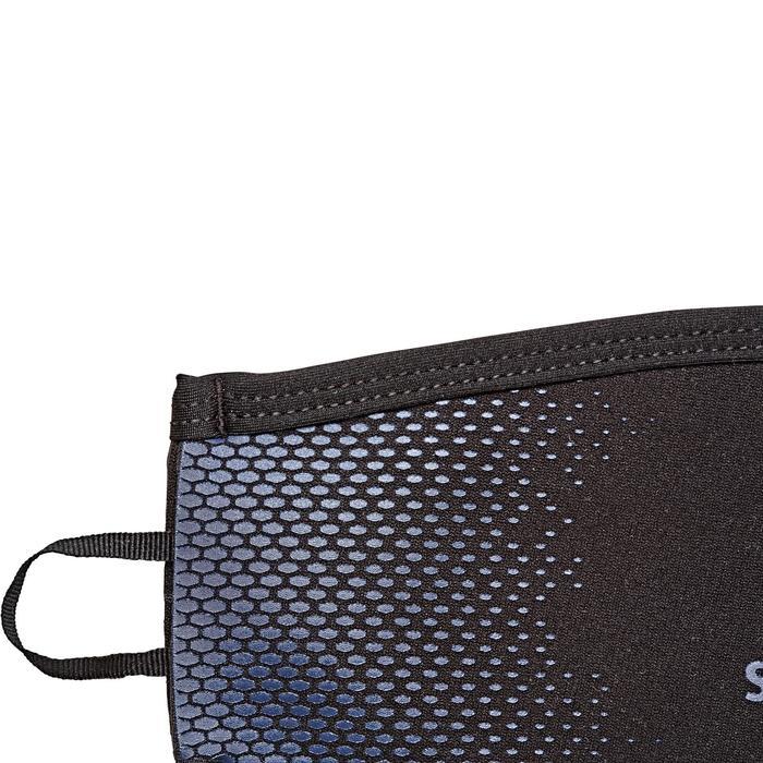 Funda de correa de máscara de buceo neopreno negro / azul
