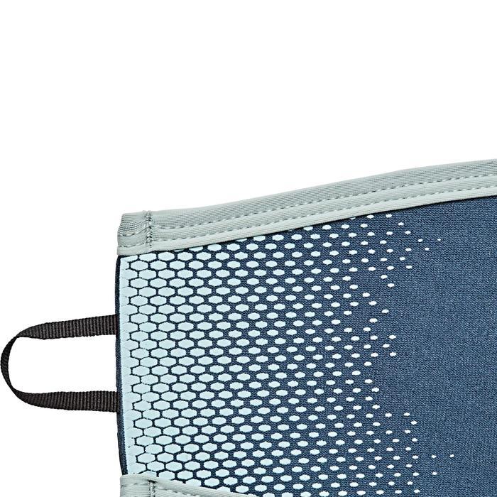 Neopreen bandhoes voor duikbril grijs/lichtblauw