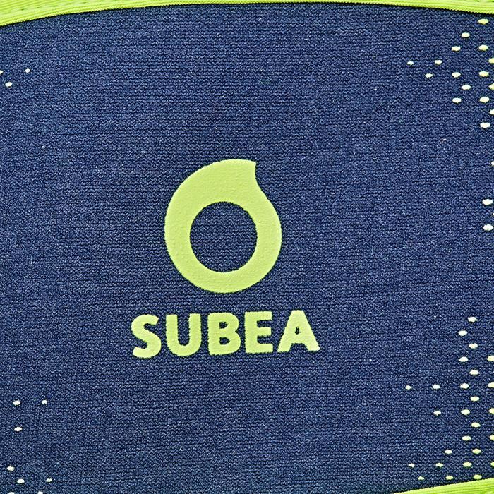 Neopreen bandhoes voor duikbril blauw/fluogeel