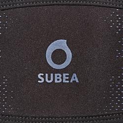 Neopreen bandhoes voor duikbril zwart/blauw