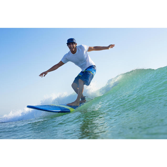 """Foam surfboard 8'6"""" 100. Geleverd met een leash en 3 vinnen."""
