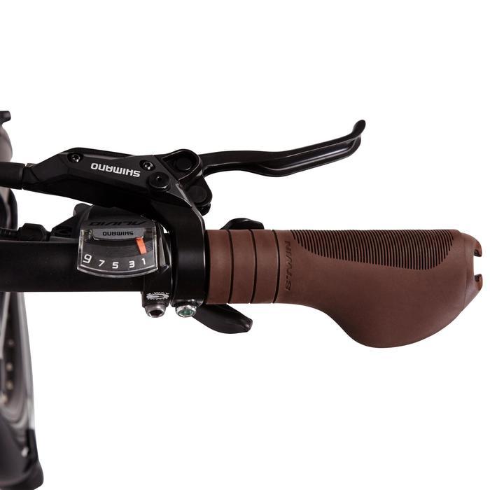 Sportieve stadsfiets dames Hoprider 900 laag frame zwart