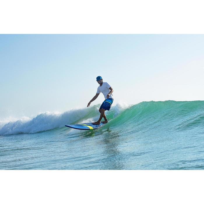 Lange Boardshorts Surfen 100 Stripes Herren blau