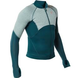 SNK 900 men's neoprene snorkelling top dark turquoise