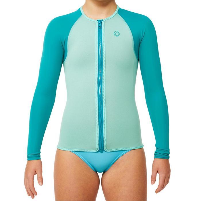 Top plongée de snorkeling 1,5mm SNK ML 500 Enfant turquoise - 1324241