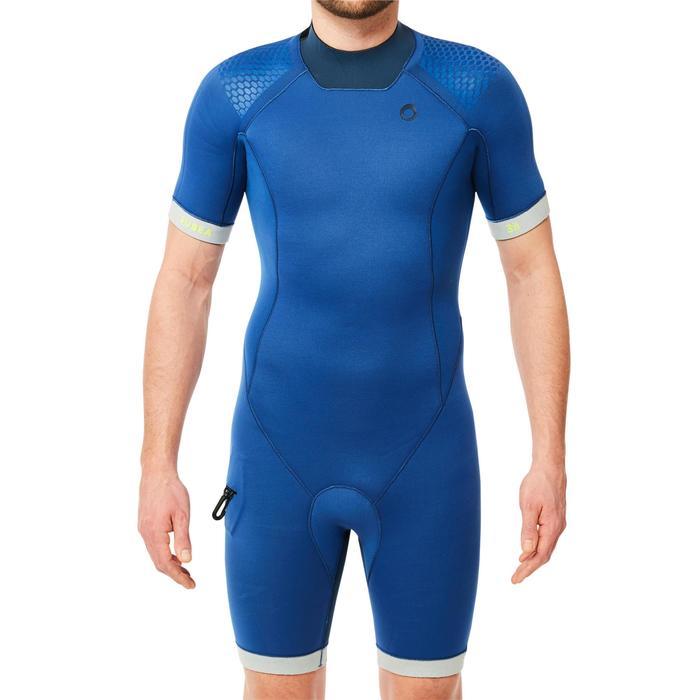 Shorty plongée sous marine SCD 500 néoprène 3mm Homme Bleu