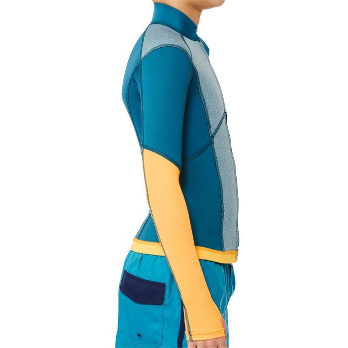 900 1.5mm kids neoprene snorkelling top blue yellow - 1324248