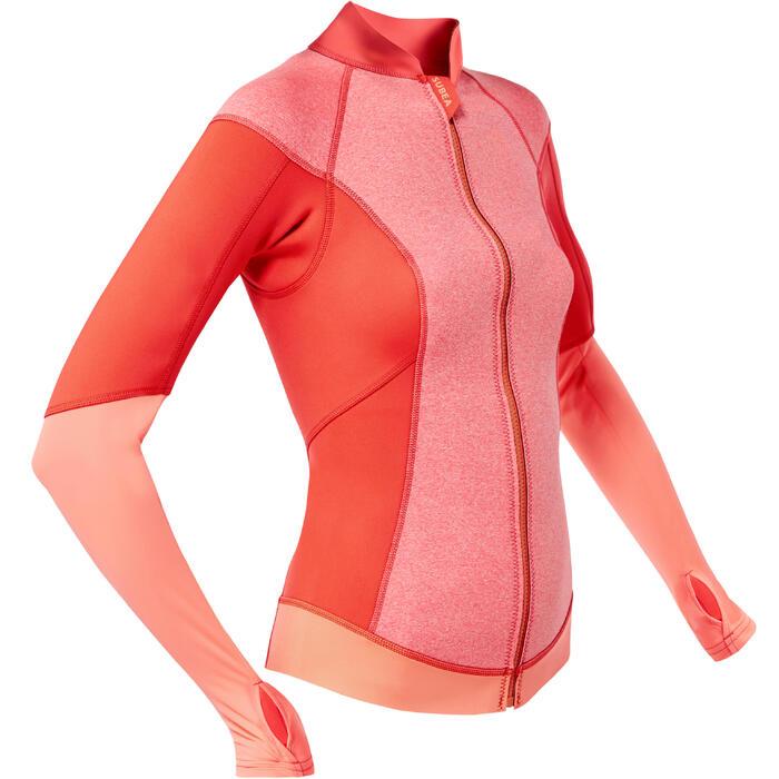 Top Neopreno Protección UV Snorkel Subea SNK900 ML 1,5 mm Mujer Rosa Naranja
