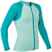 ML SNK 500 1.5mm kids snorkelling top turquoise