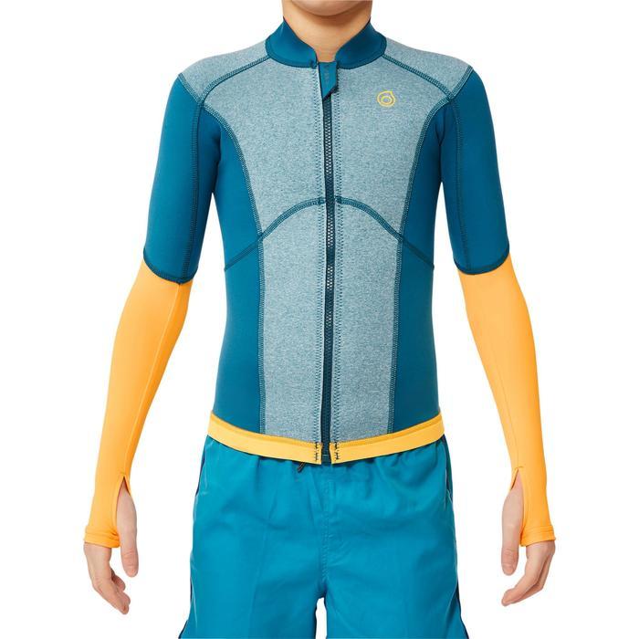 900 1.5mm kids neoprene snorkelling top blue yellow - 1324264