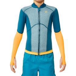 Top neopreno de snorkel 1,5 mm 900 niños azul amarillo