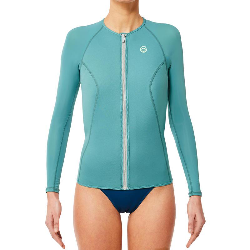 เสื้อดำน้ำตื้นแขนยาวความหนา 1.5 มม. สำหรับผู้หญิงรุ่น SNK ML 500 (สีเทา)