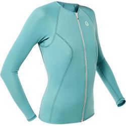 SNK ML 500 women's 1.5mm long-sleeved snorkelling top grey