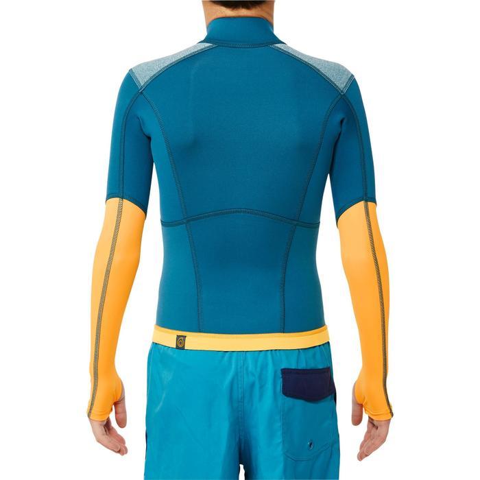 900 1.5mm kids neoprene snorkelling top blue yellow - 1324305