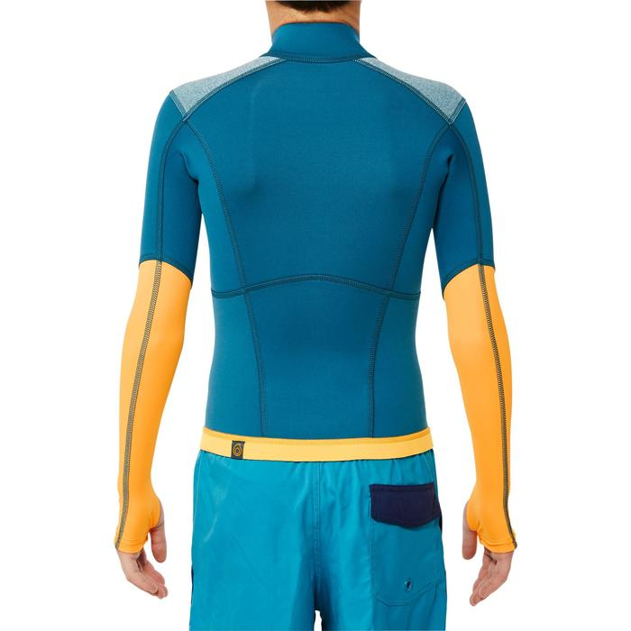 Top neopreno de snorkel 1,5 mm 900 niños azul amarillo