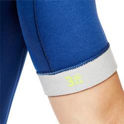 Heren shorty duikpak SCD 500 neopreen 3 mm blauw