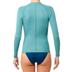 Top Neopreno Protección UV Snorkel Subea SNK500 ML 1,5 mm Mujer Azul Gris