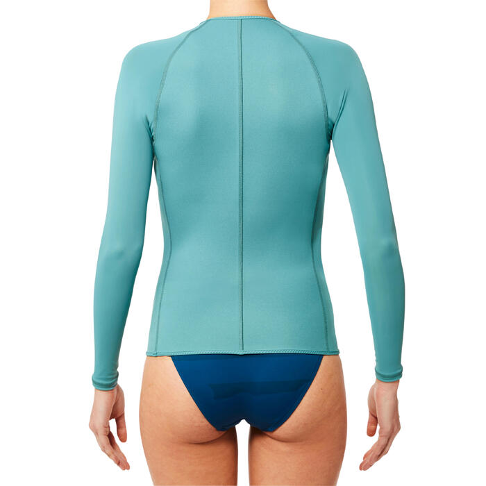 Top de snorkeling 1,5mm manches longues SNK ML 500 Femme gris - 1324309