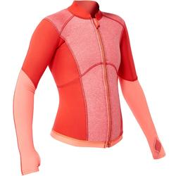 900 1.5mm kids neoprene snorkelling top coral pink