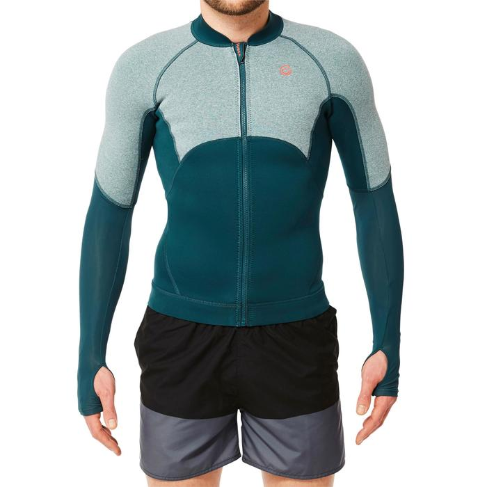 Top néoprène de snorkeling SNK 900 homme turquoise foncé