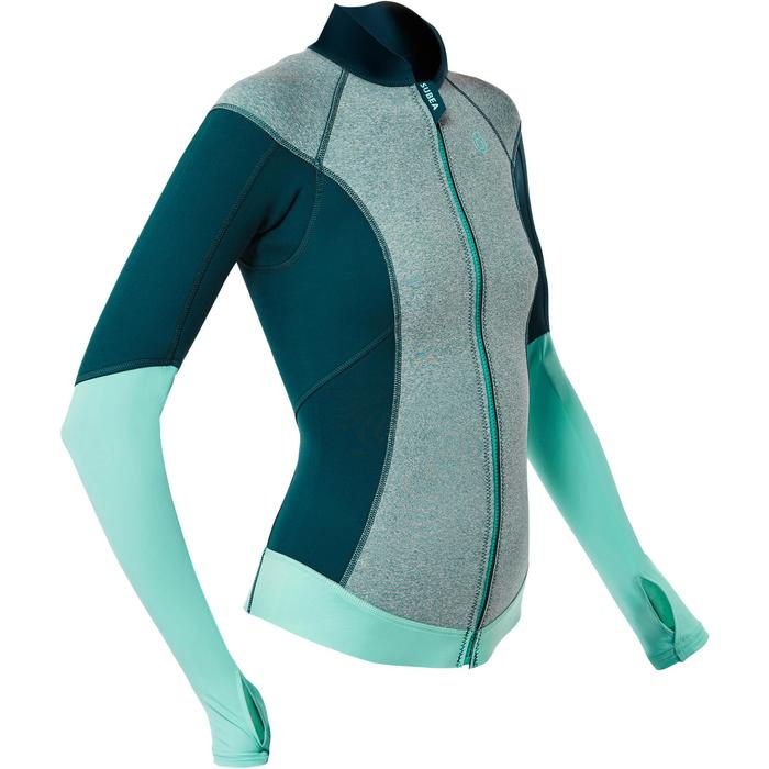 Snorkeltop SNK 900 voor dames 1,5 mm turquoise