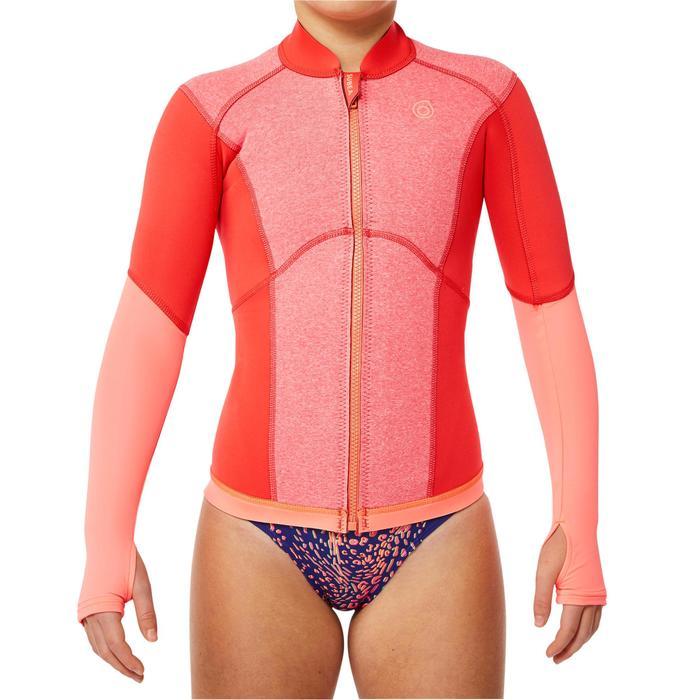 Top néoprène de snorkeling 1,5mm 900 enfant rose corail