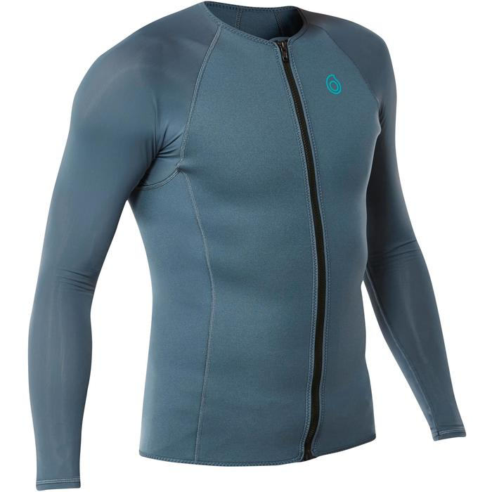 Top plongée de snorkeling 1,5mm SNK ML 500 homme gris - 1324338