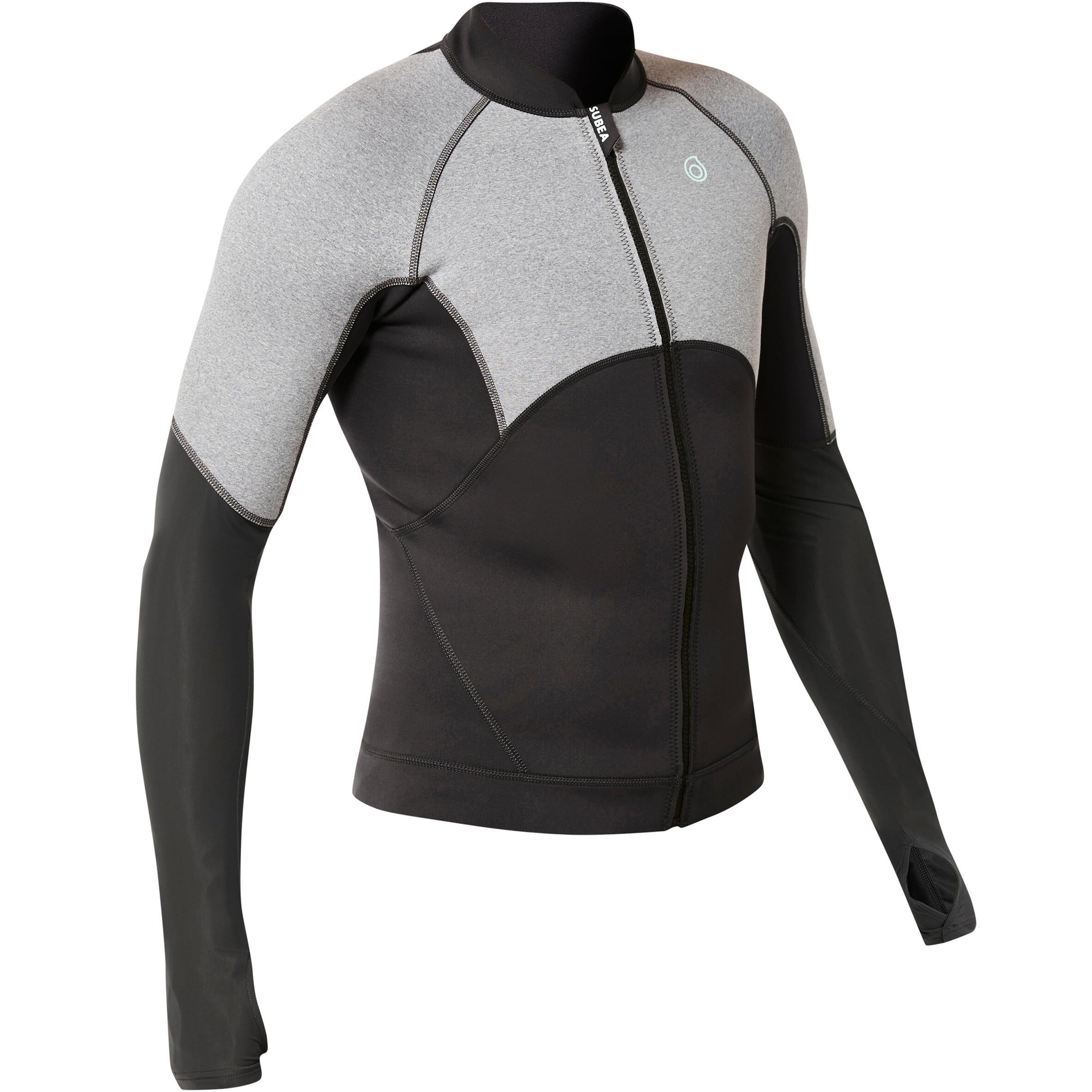 Subea Neopreen snorkeltop SNK 900 voor heren grijs kopen