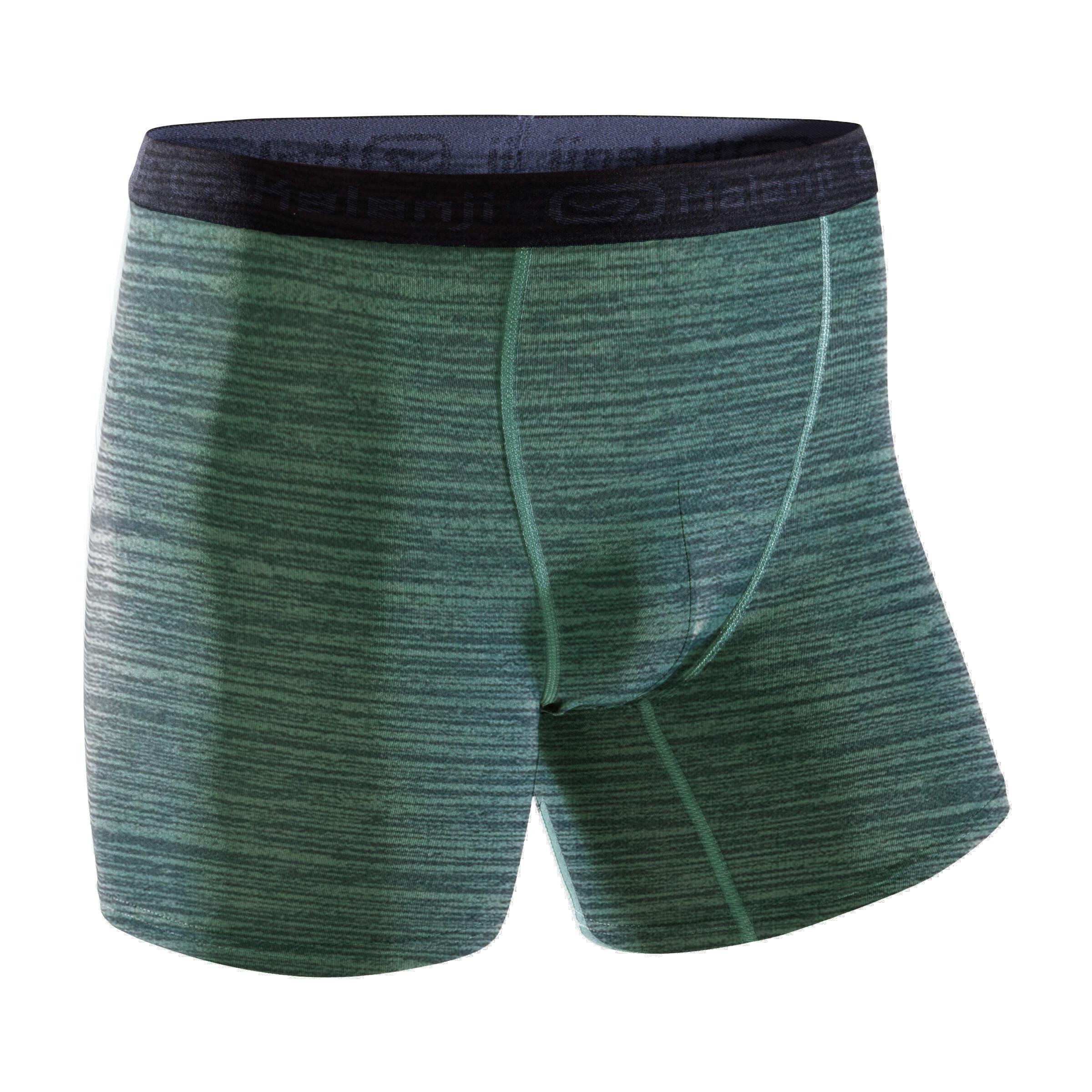 Men's Breathable Running Boxers - Mottled Khaki