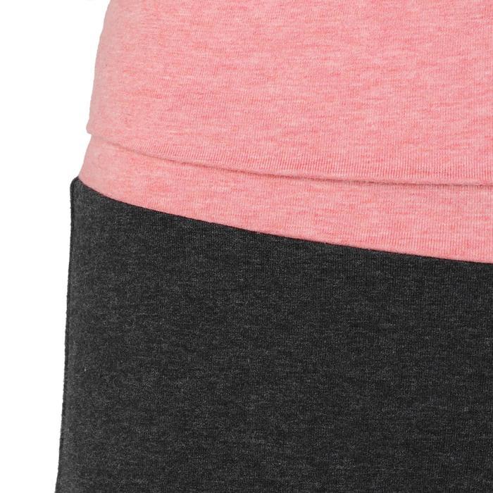 女款舒緩瑜珈有機棉七分褲 - 灰色/粉色