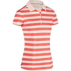Women's Golf Striped Polo 520 - White/Blue