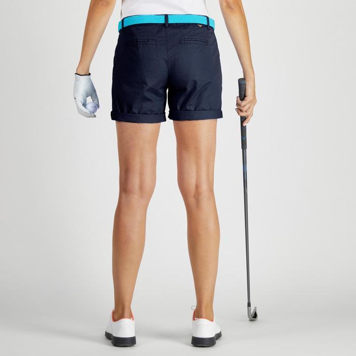 Pantalón corto de golf mujer 500 tiempo templado azul marino
