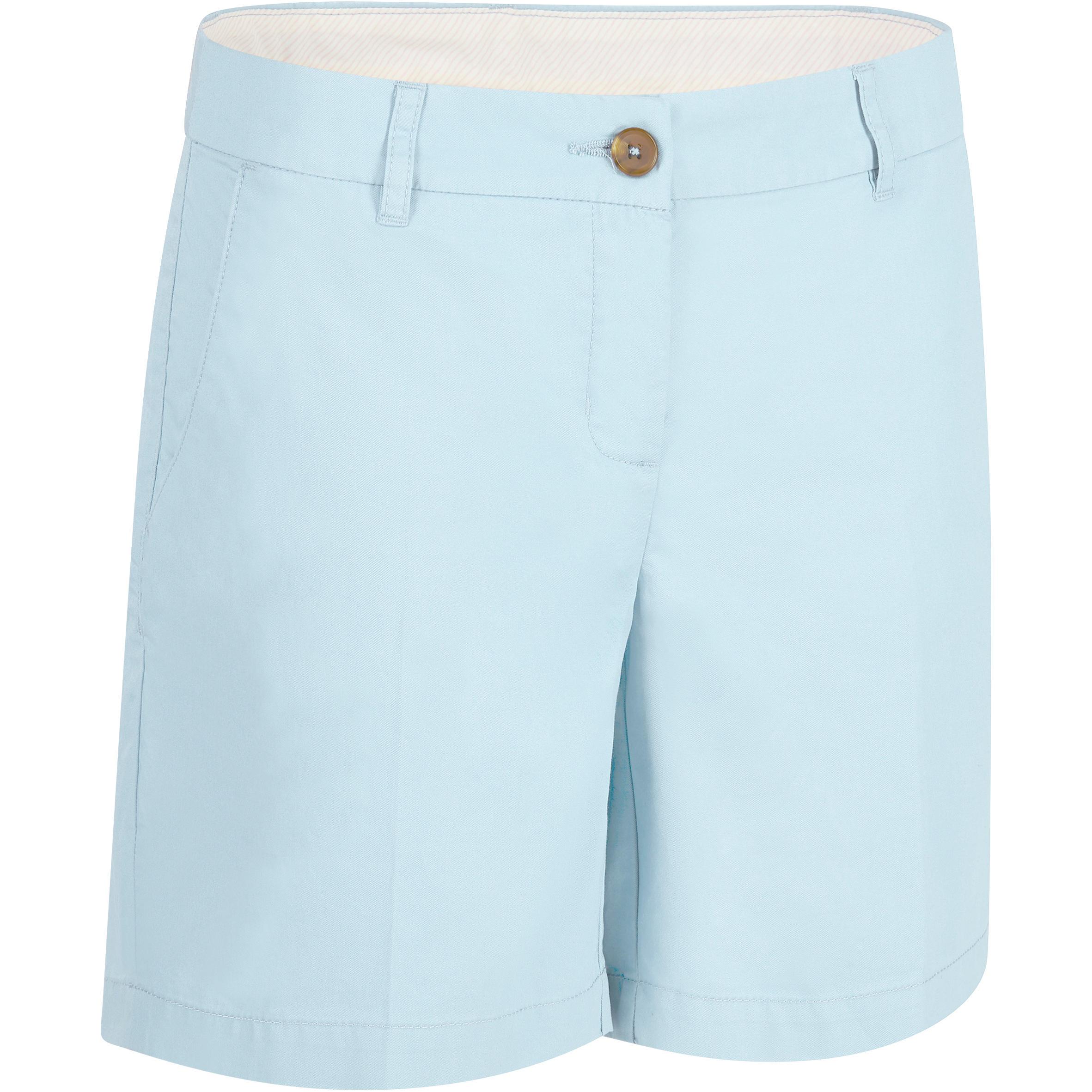 Short de golf femme 500 bleu ciel