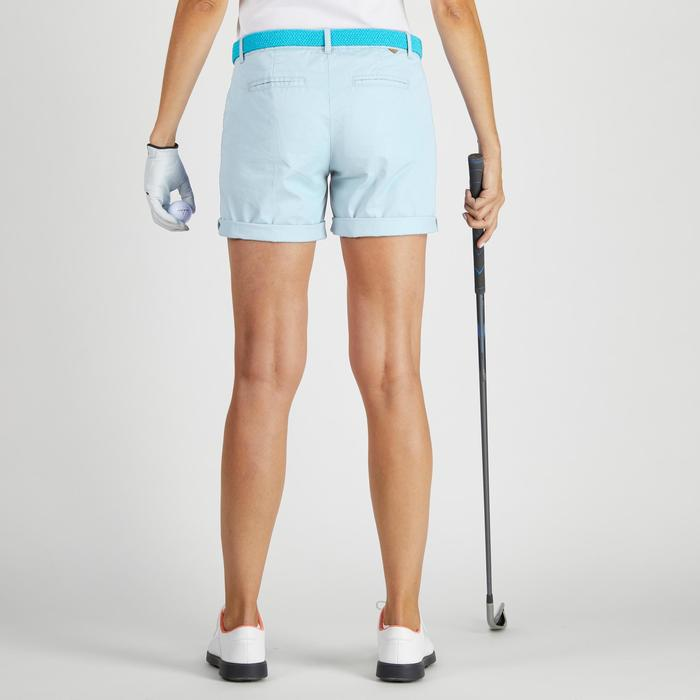 Pantalón corto de golf mujer 500 tiempo templado azul claro