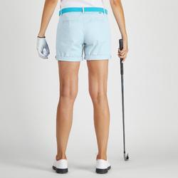 Short de golf femme 500 temps tempéré bleu ciel