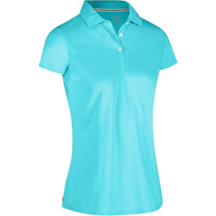 Polo de golf femme manches courtes 500 temps tempéré - 1324521