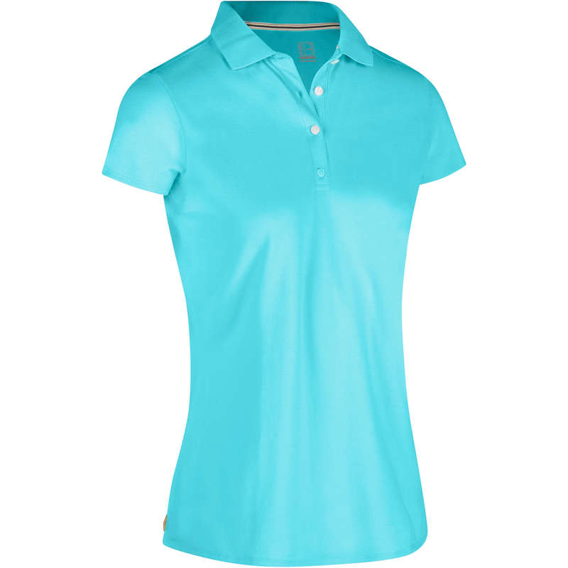 WOMENS MILD WEATHER GOLF CLOTHING Golf - Women's Turquoise Polo 500 INESIS - Golf Clothing