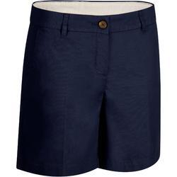 Golfshort 500 voor dames, warm weer, marineblauw