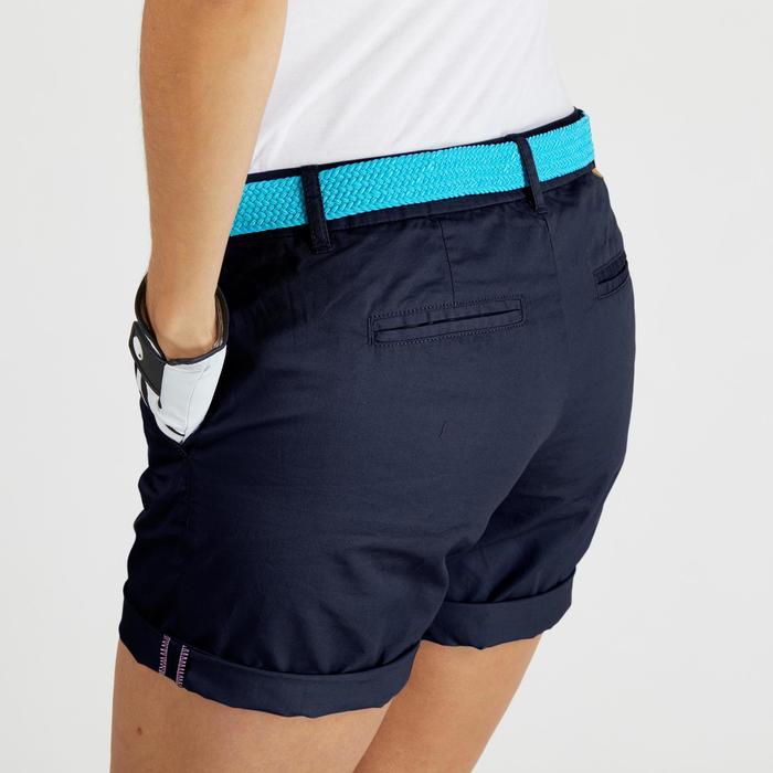 Golfshort 500 voor dames, zacht weer, marineblauw