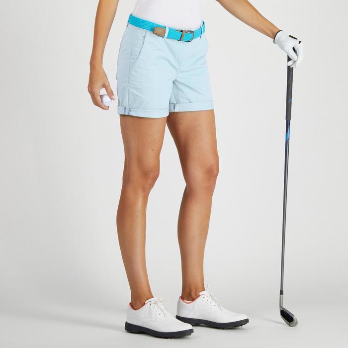Golfshort 500 voor dames, zacht weer, lichtblauw