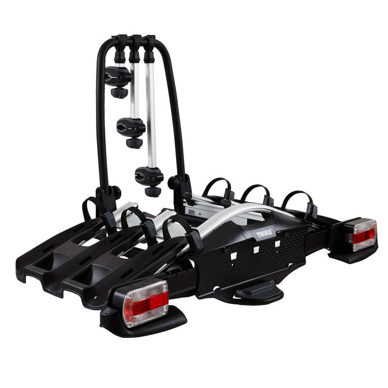 BIKE CARRIERS Cycling - VeloCompact 927 Towbar Bike Carrier - 3 bikes THULE - Cycling